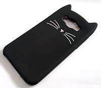 Чехол детский для Samsung Galaxy E7 e700h силиконовый объемный игрушка усики черный