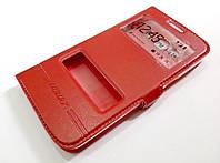 Чехол книжка с окошками momax для Samsung Galaxy Grand 2 G7102 / G7106 красный