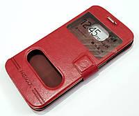 Чехол книжка с окошками momax для Samsung Galaxy S6 Edge G925 красный
