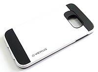 Чехол противоударный Motomo Verus для Samsung Galaxy S6 edge G925 белый с черным