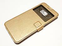 Чехол книжка с окошком momax для Samsung Galaxy S6 Edge Plus G928 золотой