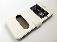 Чехол книжка с окошками для Samsung Galaxy Grand Max g720 белый