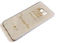 Чехол для Samsung Galaxy S6 Edge Plus G928 силиконовый ультратонкий прозрачный серый