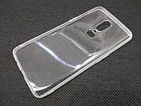 Чехол для OnePlus 6 силиконовый прозрачный с матовым ободком