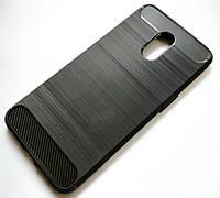 Чехол для OnePlus 6T силиконовый полоска-карбон черный
