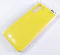 Чехол для Oppo A91, Oppo F15 матовый Silicone Case Full Cover Macarons Color Желтый