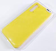 Чехол для Oppo Reno 3 матовый Silicone Case Full Cover Macarons Color Желтый