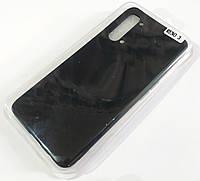 Чехол для Oppo Reno 3 матовый Silicone Case Full Cover Macarons Color Черный