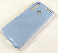 Чехол для Realme 5 Pro матовый Silicone Case Full Cover Macarons Color Голубой