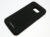 Чехол противоударный для Samsung Galaxy S7 G930 накладка Motomo Sport (Stripes) черный