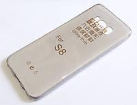 Чехол для Samsung Galaxy S8 G950 силиконовый ультратонкий прозрачный серый