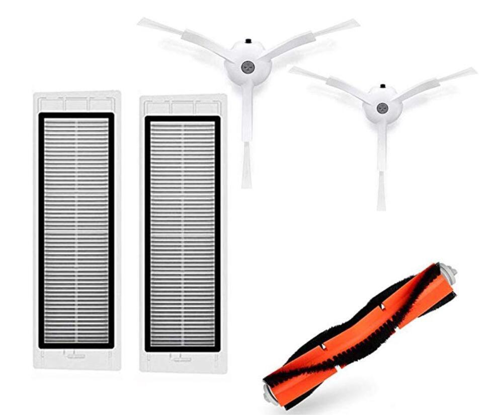 Комплект запасных частей для робота пылесоса Xiaomi Mi Robot Vacuum Cleaner Основная и Боковые Щетка Фильтр