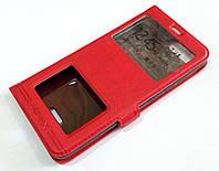 Чехол книжка с окошками momax для Xiaomi Redmi 6A красный