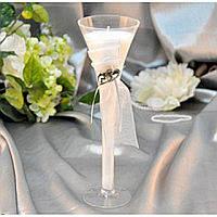 Свеча для декора Tulipa в прозрачном бокале, декоративные свечи, свечки