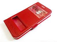 Чехол книжка с окошками momax для Samsung Galaxy J2 Pro j250f (2018) красный