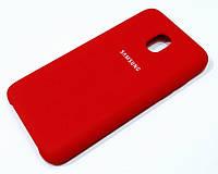 Чехол Silicone Case Cover для Samsung Galaxy J3 (2018) красный