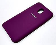 Чехол Silicone Case Cover для Samsung Galaxy J3 (2018) фиолетовый