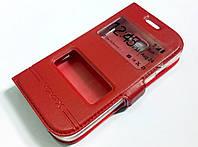 Чехол книжка с окошками для Samsung Galaxy Star Plus s7262 / s7260 красный