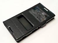 Чехол книжка с окошками momax для Sony Xperia C c2305 s39h черный