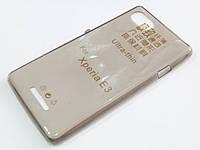 Чехол для Sony Xperia E3 Dual D2212 силиконовый ультратонкий прозрачный серый
