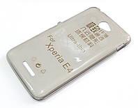 Чехол для Sony Xperia E4 dual E2115 силиконовый ультратонкий прозрачный серый