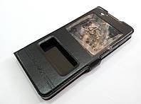 Чехол книжка с окошками momax для Sony Xperia E5 f3311, f3313 черный