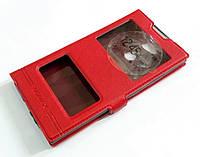 Чехол книжка с окошками momax для Sony Xperia L2 H4311 красный