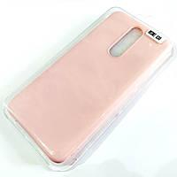Чехол для Xiaomi Redmi K30 матовый Silicone Case Full Cover Macarons Color Розовый