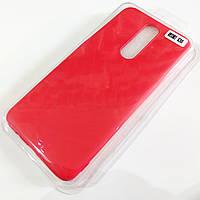 Чехол для Xiaomi Redmi K30 матовый Silicone Case Full Cover Macarons Color Красный