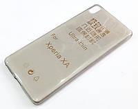 Чехол для Sony Xperia XA dual f3111 силиконовый ультратонкий прозрачный серый