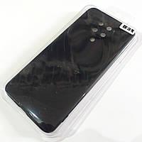 Чехол для Xiaomi Redmi K30 Pro матовый Silicone Case Full Cover Macarons Color Черный