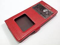 Чехол книжка с окошками momax для Xiaomi Redmi Note 2 красный