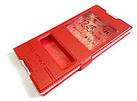 Чехол книжка с окошком momax для Sony Xperia XA1 Ultra g3221 / g3223 / g3212 / g3226 красный