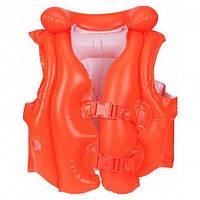 Надувной жилет для плавания Intex 58671 LUX Pool School Жилет Школа плавания 50 х 47 см Красный