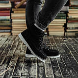 Чоловічі зимові черевики South Indigo black. Натуральна замша і хутро. Преміум якість, фото 5