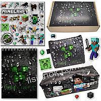 Бокс Майнкрафт (пенал, блокнот, кошелек, наклейки) – отличный подарок любителям игры Minecraft