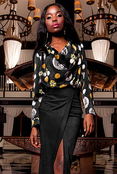 Блуза Сальвини черный xl