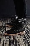 Чоловічі зимові черевики South Jaston black. Натуральна шкіра та хутро. Преміум якість, фото 2