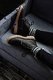 Чоловічі зимові черевики South Jaston black. Натуральна шкіра та хутро. Преміум якість, фото 6