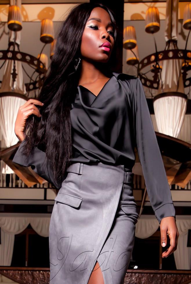 Туника-блуза  Кантили тёмно-серый s