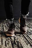 Чоловічі зимові черевики South Rebel brown. Натуральна шкіра та хутро. Преміум якість, фото 3