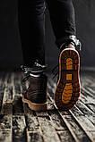Чоловічі зимові черевики South Rebel brown. Натуральна шкіра та хутро. Преміум якість, фото 4