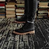 Мужские зимние ботинки South Rebel black. Натуральная кожа и мех. Премиум качество, фото 3