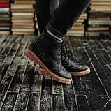 Мужские зимние ботинки South Rebel black. Натуральная кожа и мех. Премиум качество, фото 4