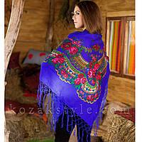 Українська хустка синя (120х120) (з вадами виробництва), фото 1