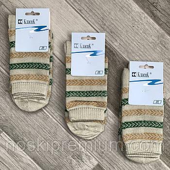 Шкарпетки жіночі напівшерстяні Класик, арт.15В-75, 25 розмір, полиново-бежево-зелені, 05913