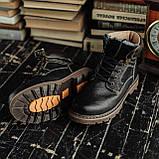 Мужские зимние ботинки South Craft black. Натуральная кожа и мех. Премиум качество, фото 2