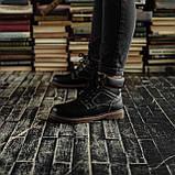 Мужские зимние ботинки South Craft black. Натуральная кожа и мех. Премиум качество, фото 3