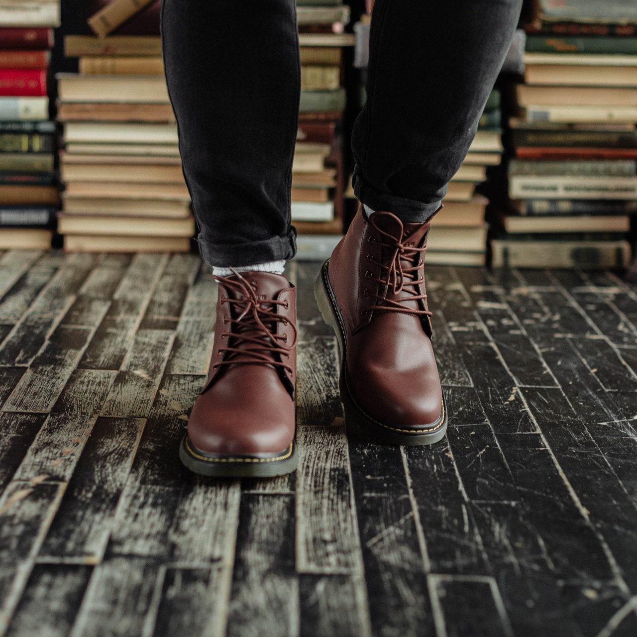 Мужские зимние ботинки South Warfare coffe. Натуральная кожа и мех. Премиум качество