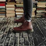 Мужские зимние ботинки South Warfare coffe. Натуральная кожа и мех. Премиум качество, фото 3